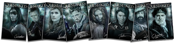 Quest of the Keys Character Posters